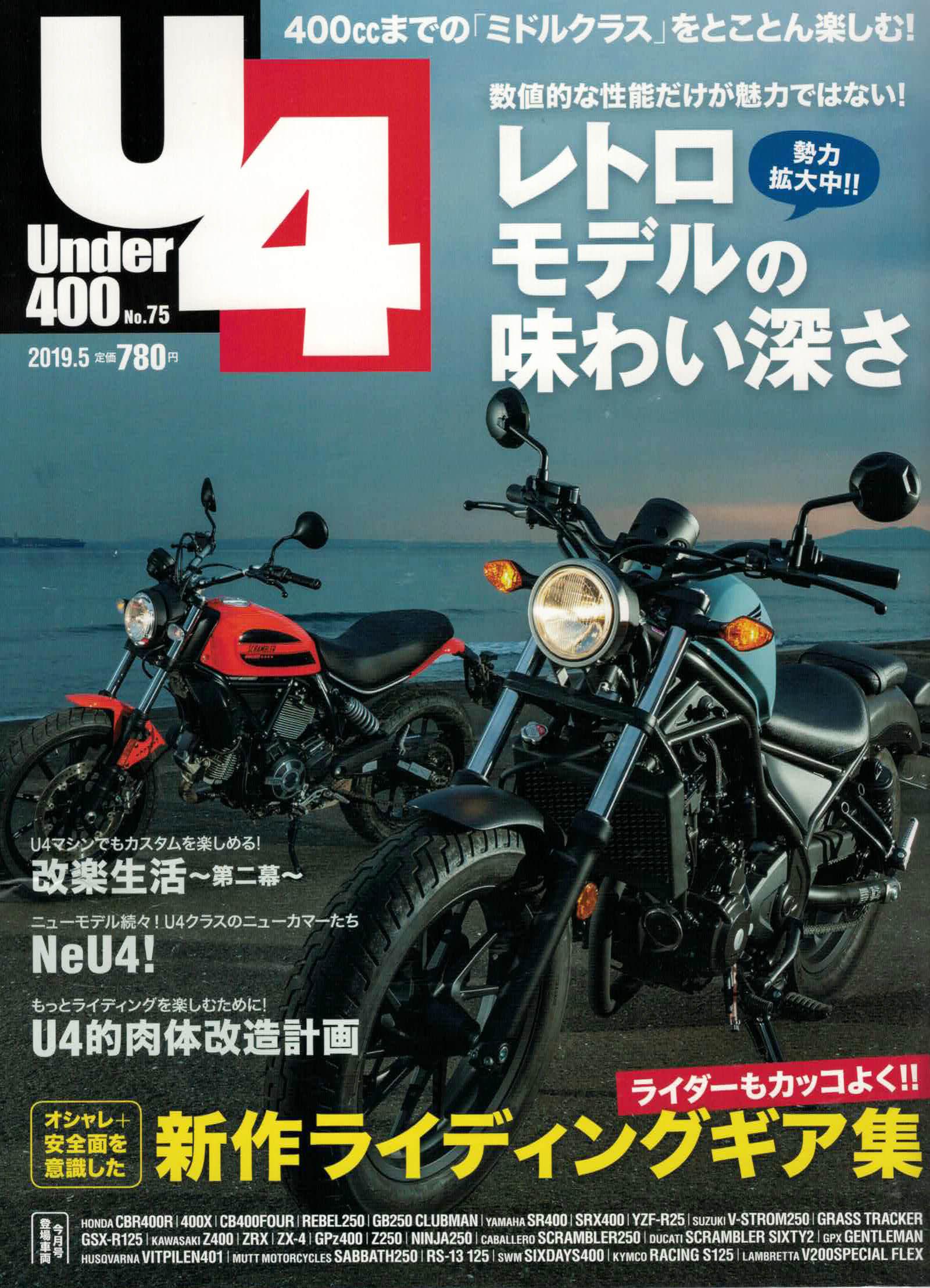 【Under400 5月号掲載】Lambretta V200Special、CABALLERO SCRAMBLER250、PANDO MOTO