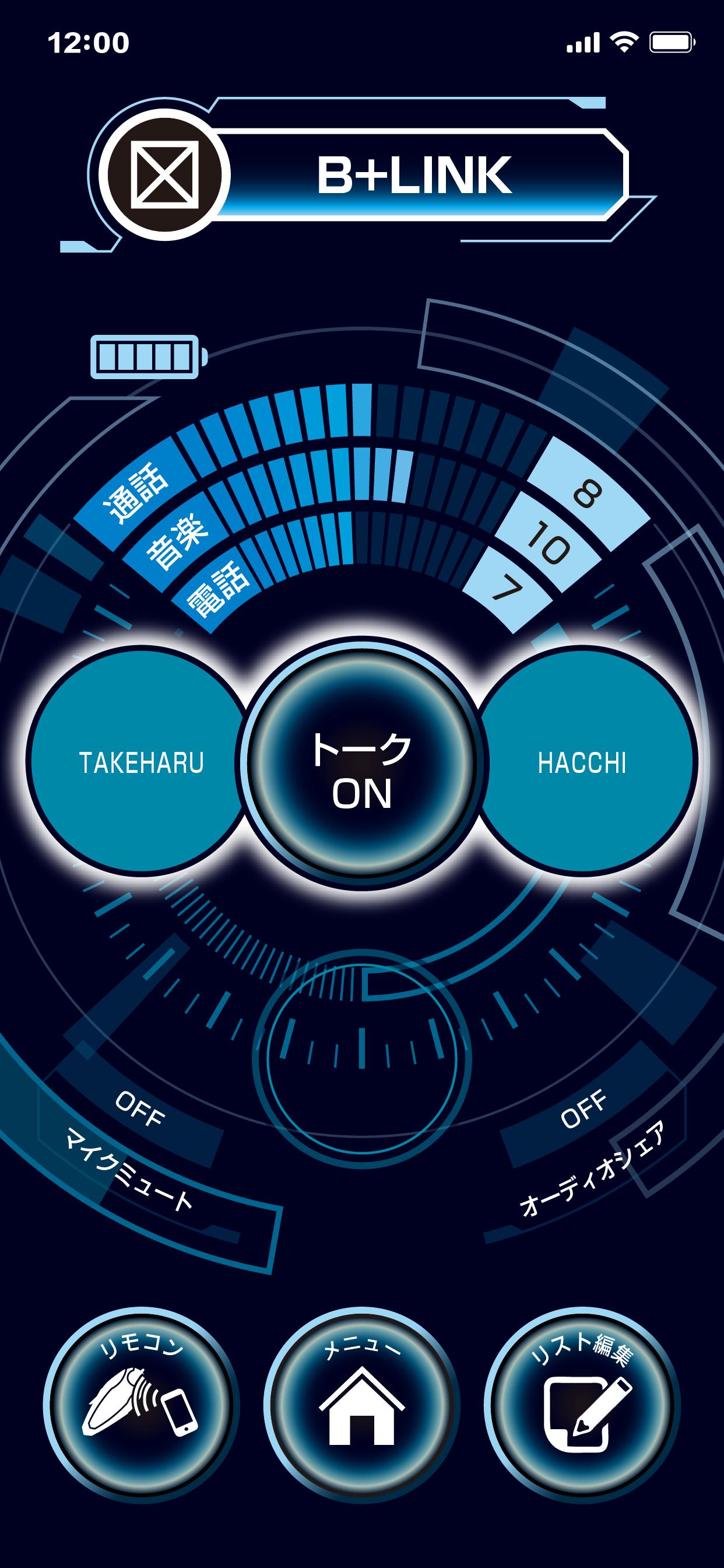 B+LINKモニター画面