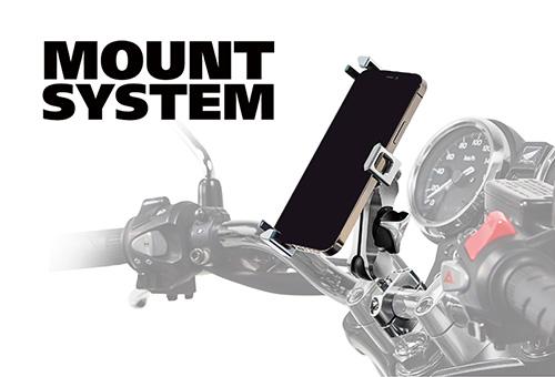 WEBヤングマシン 第2回「バイク専用設計デバイスホルダー MOUNT SYSTEM」